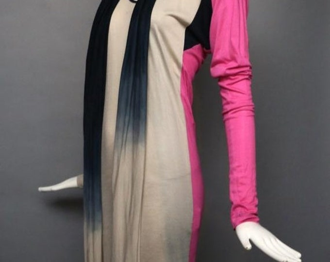 25% OFF 90s VIVIENNE WESTWOOD Anglomania rayon jersey Dip Dye Dress w/ long scarf tie M Nwt