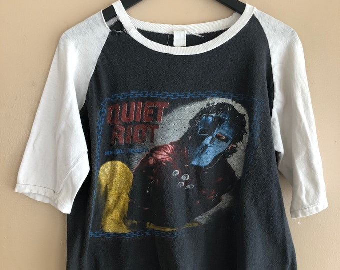80s QUIET RIOT Metal Health concert T shirt / 1980s vintage tour jersey band shirt 50/ 50 size L