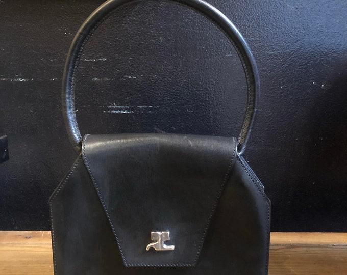 1960s Courreges Top Handle Bag