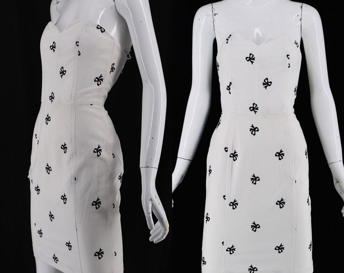 90s PATRICK KELLY bow embroidered dress 4-6