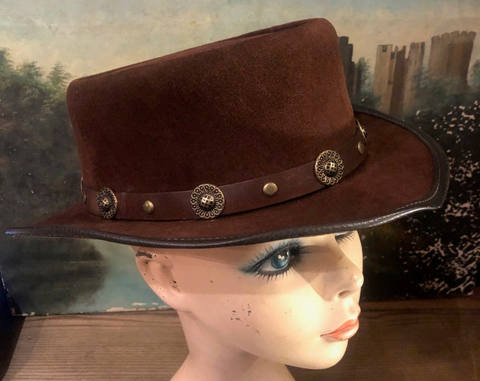 Late 60's Suede Winfield Cover Co. San Francisco Suede Hat