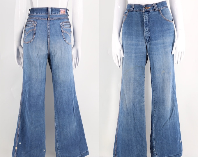 70s DISCO JEANS soft and light loose fit vintage jeans workwear pants 1970s 34 / 10