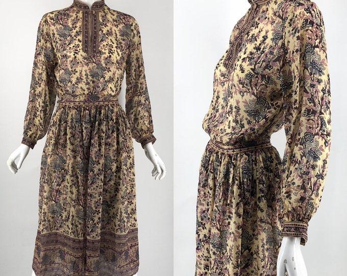 70s Phool India print silk 2 pc peasant set