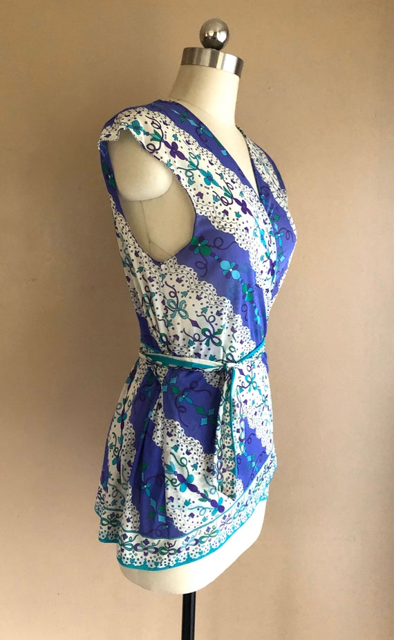 60s EMILIO PUCCI psychedelic print Formfit Rogers… - image 5