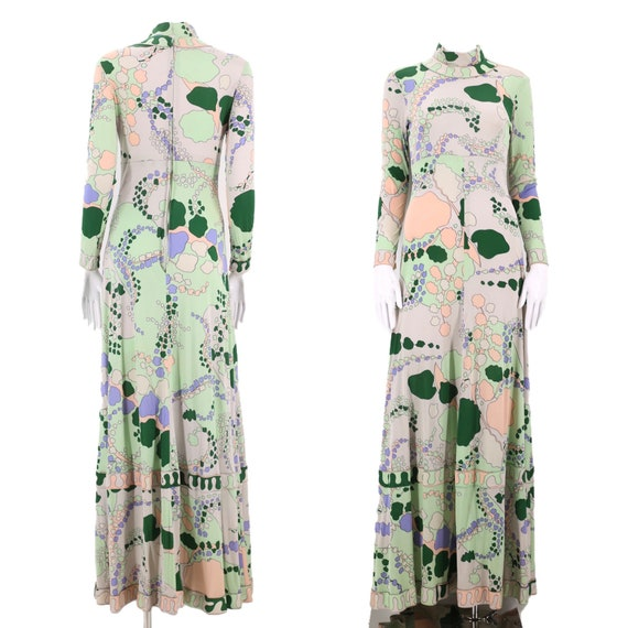 70s AVERARDO BESSI silk jersey print dress / vinta