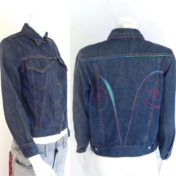 60s LEVIS Big E denim jacket / vintage 1960s 70s L