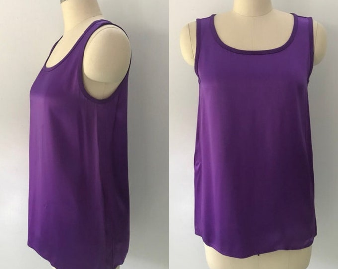 80s YSL Yves Saint Laurent jewel tone camisole shell tank TOP 34 4 vintage 70s 1980s