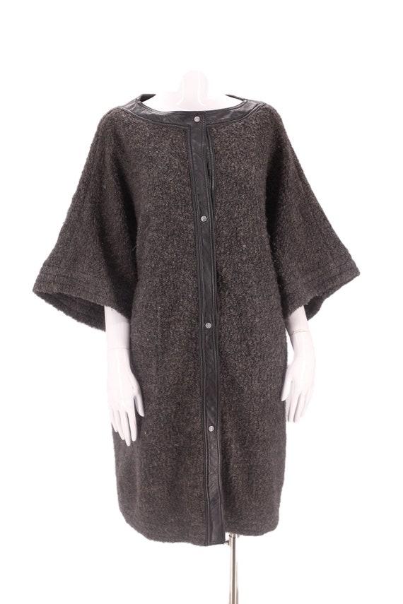 60s SILLS Bonnie Cashin gray wool coat M-L / vint… - image 2