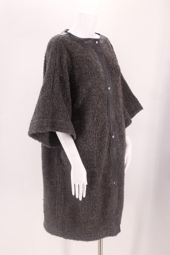 60s SILLS Bonnie Cashin gray wool coat M-L / vint… - image 4