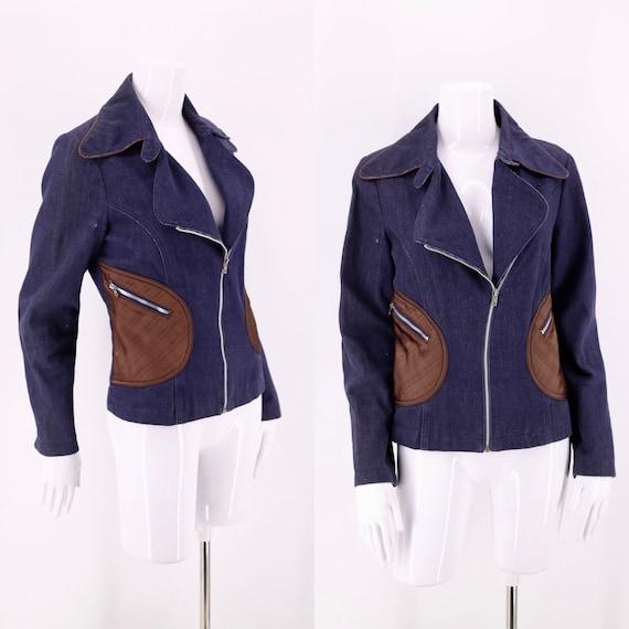70s Roncelli denim Applique Cotton Jacket / vintag