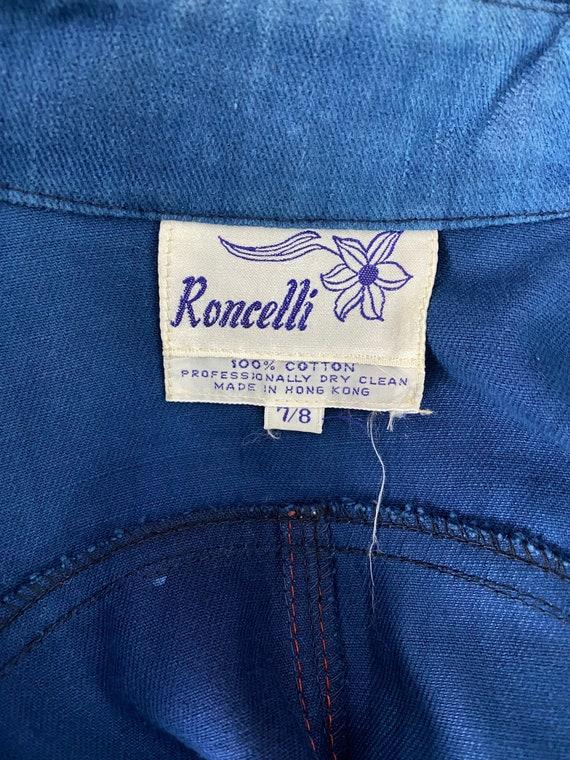 70s RONCELLI denim bell bottoms suit 8 / vintage … - image 8