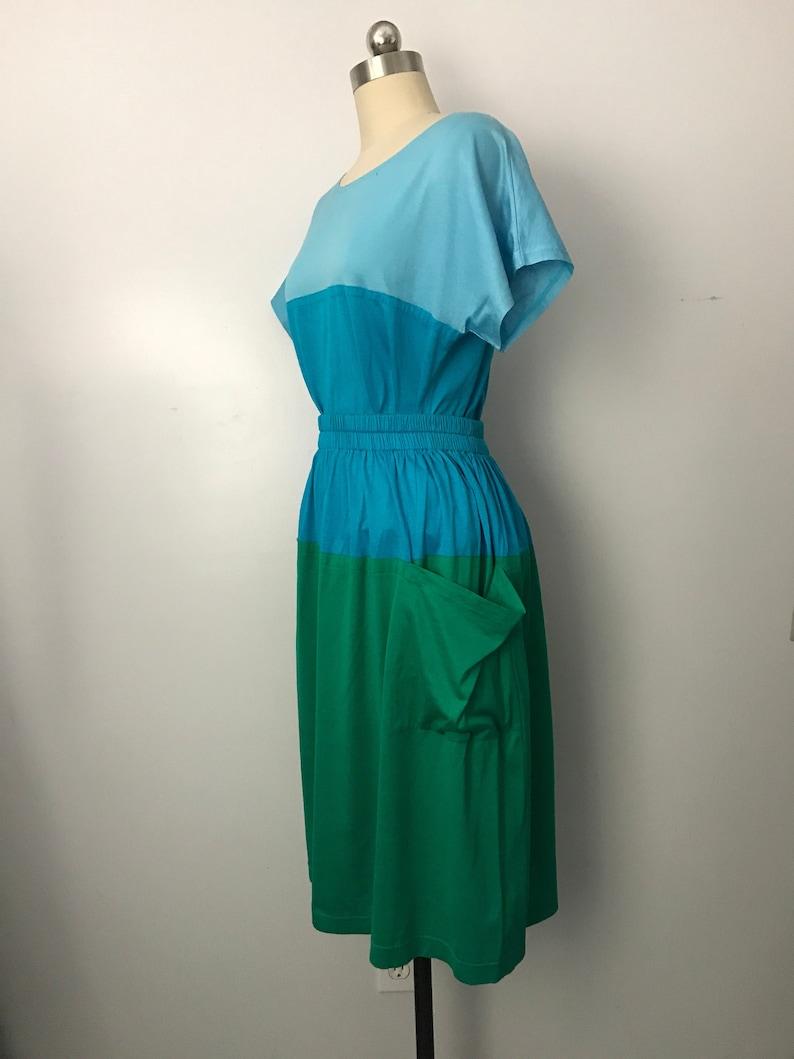 6ab6887d46 80s YSL Variation color block cotton 2 pc set w  t shirt