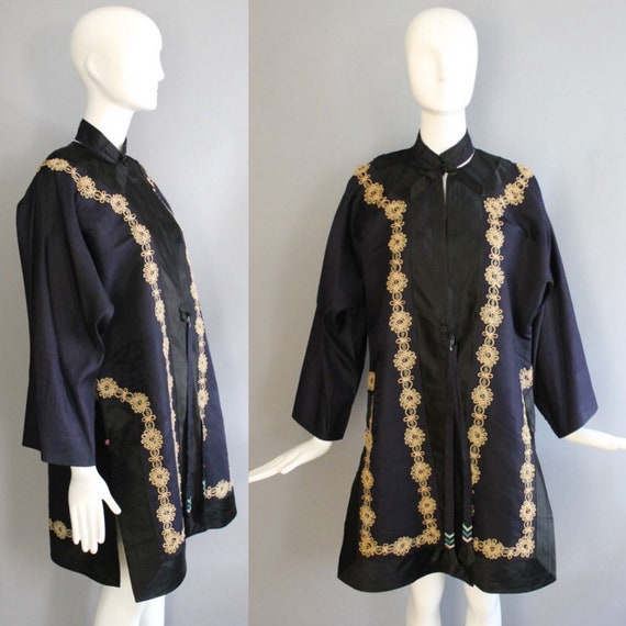 20s CHINESE silk formal printed and embroidered ce