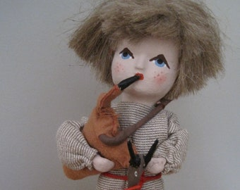 Vintage Hand Made Hand Painted Polish Doll made in Poland