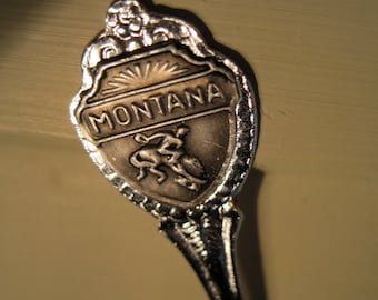 Vintage MONTANA souvenir spoon MONTANA collectable spoon