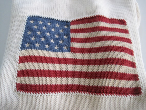 RALPH LAUREN Vintage Stars and Stripes rouge drapeau bleu et   Etsy 4145463a8b48