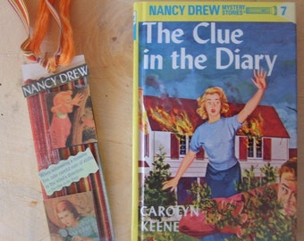 NANCY DREW GIFT SET/THE CLUE IN THE DIARY BOOK  and BOOKMARK