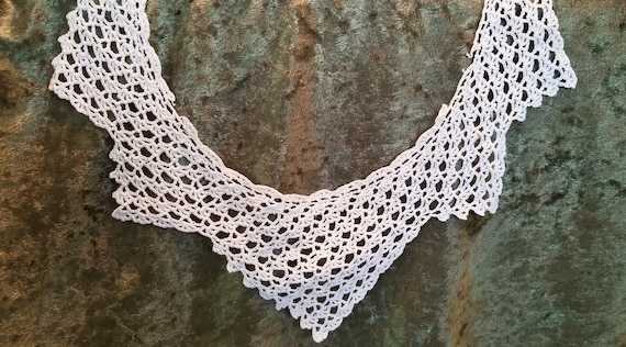 Vintage Crocheted Collar, Crocheted Collar, Vinta… - image 3
