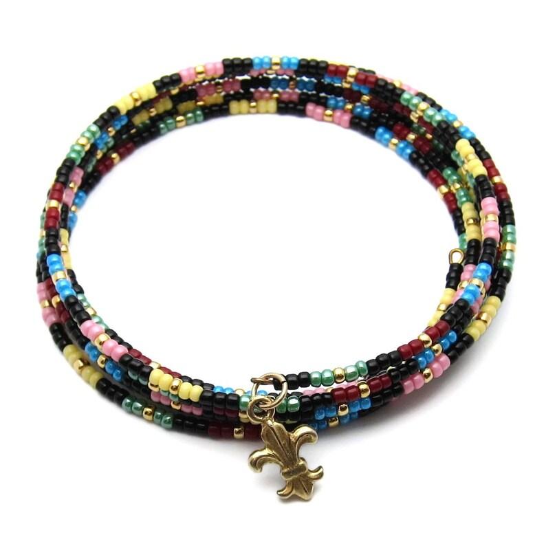 Wrap around bracelet  memory wire bracelet  coil bracelet  image 0