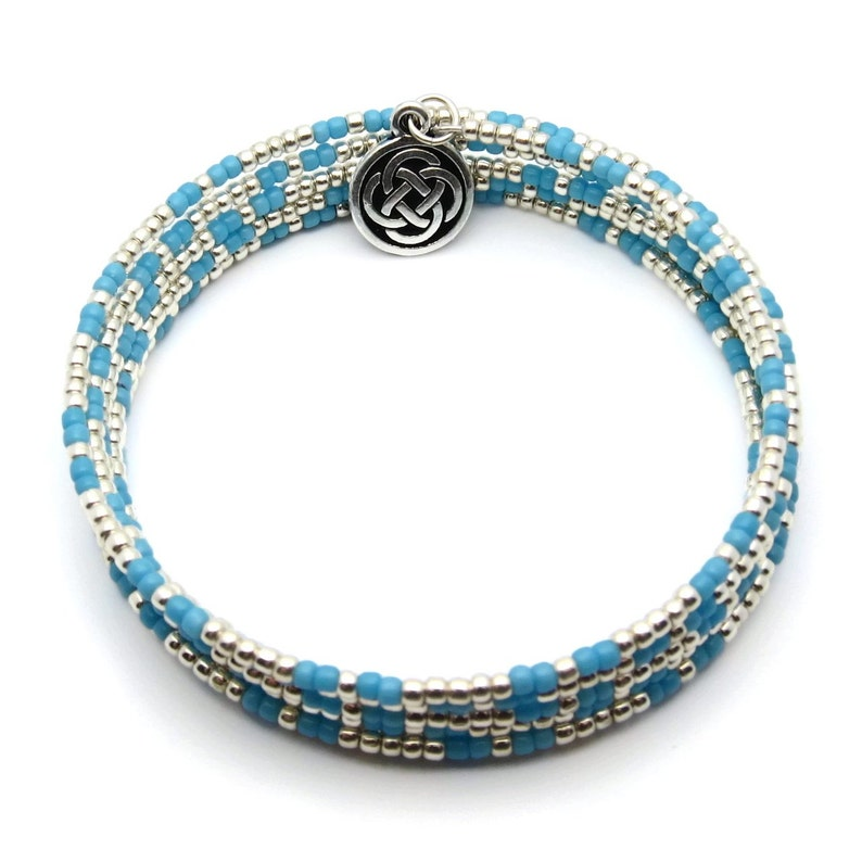 Memory wire bracelet  coil bracelet  wrap around bracelet  image 0