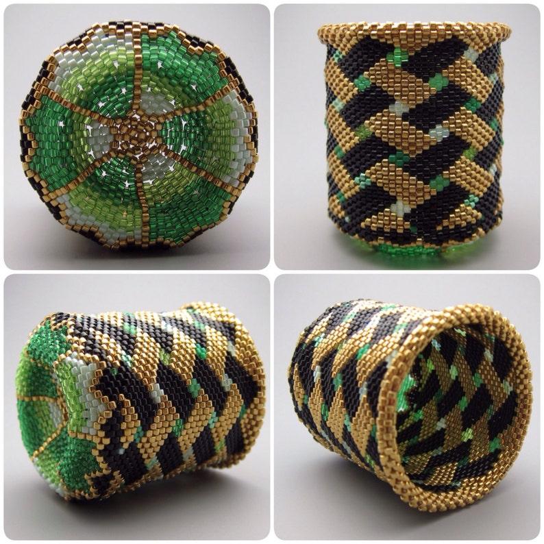 Basket weave pattern  beaded basket  collectible basket  image 0