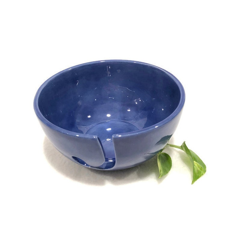 Yarn Bowl  Knitting Bowl in Royal Blue