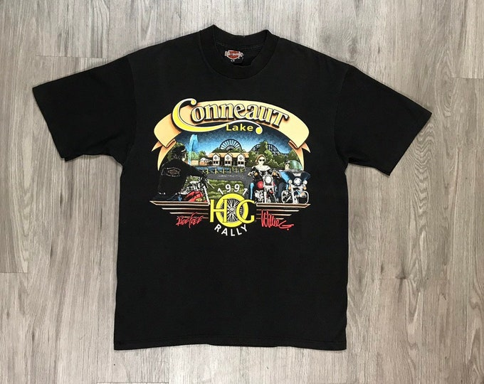 90s Harley Davidson Conneaut Lake HG Rally Tee