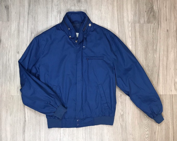 80s Blue Member's Only Style Jacket