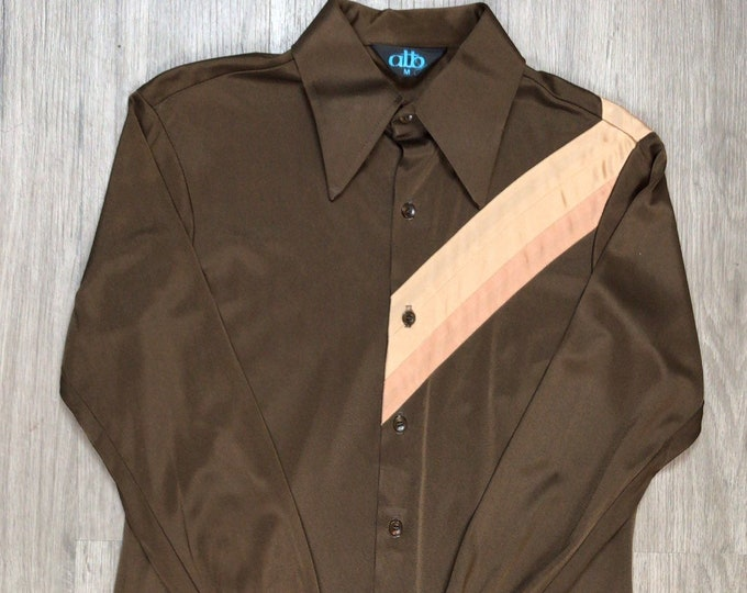 70s Brown Disco Shirt