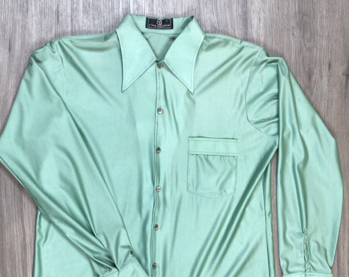 70s Mint Green Disco Shirt