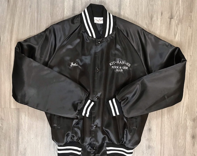 80s Rock and Gem Club Bomber Jacket