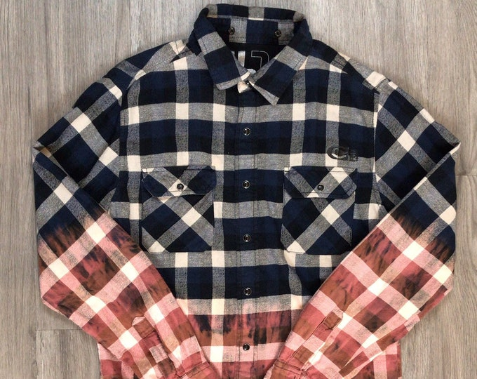 Reworked Dip Dye Buffalo Plaid Flannel