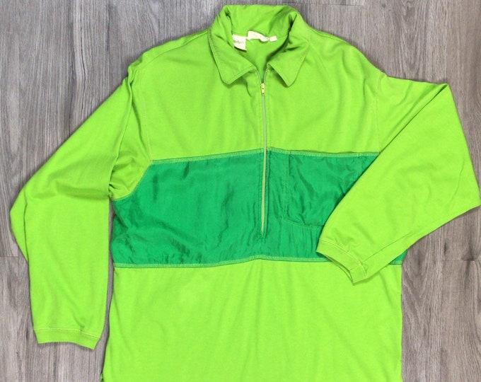 90s Kelley Green Half ZIp Pullover