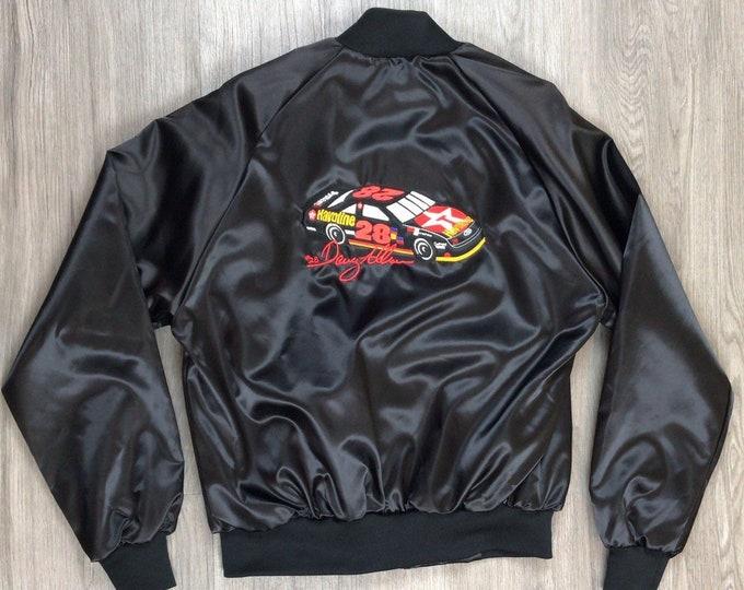 80s Davey Allison Nascar Bomber Jacket