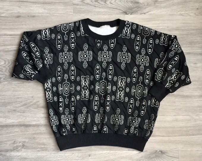 80s Ancient Patterned Sweater