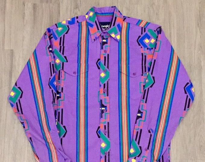 90s Wrangler Colorful Western Shirt