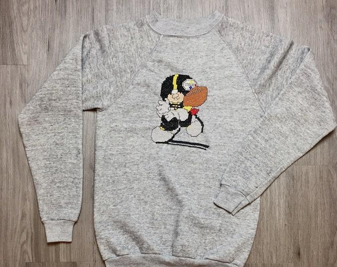 80s Steelers Video Game Inspired  Sweatshirt