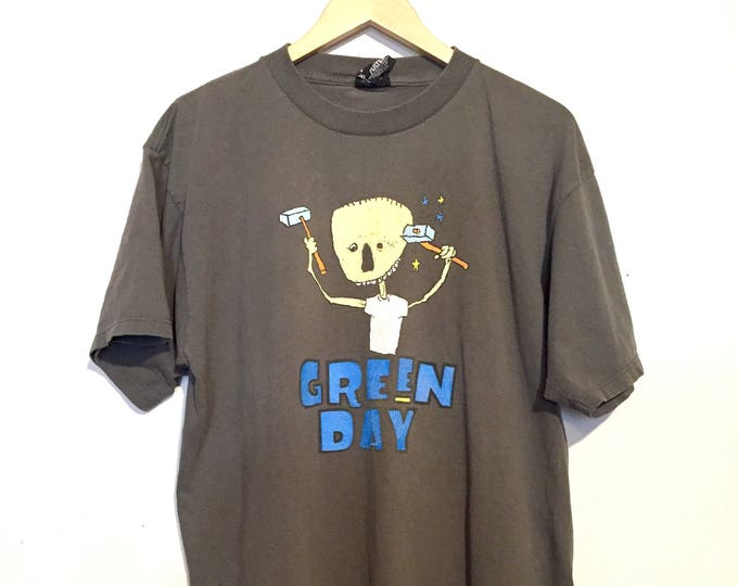 90s Vintage Distressed Green Day Nimrod Band Tee
