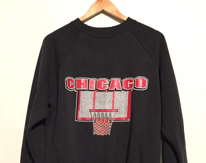 80s Chicago Basketball Sweatshirt