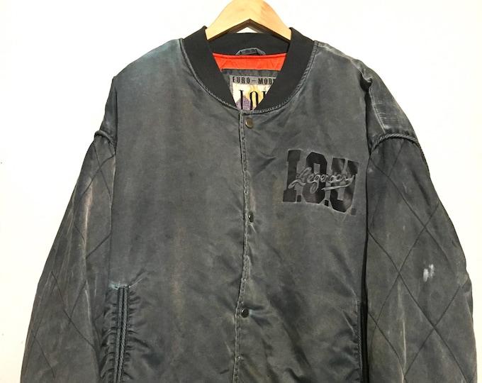 I.O.U. Euro-Mode Satin Bomber Jacket