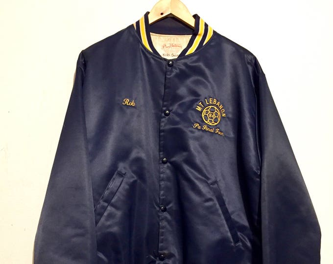 1984 Mt Lebanon Soccer Champions Satin Lined Jacket