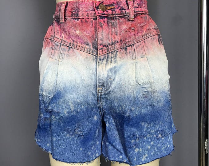 Pleated Front Festive Denim Cut Offs