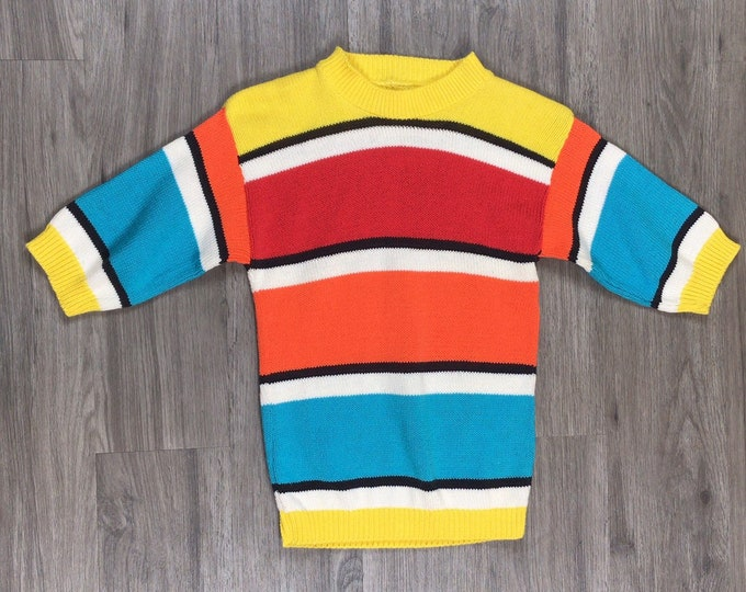 80s Striped Sweater