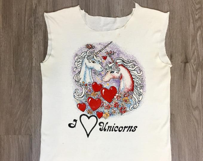 80s /90s I Heart Unicorns Tank