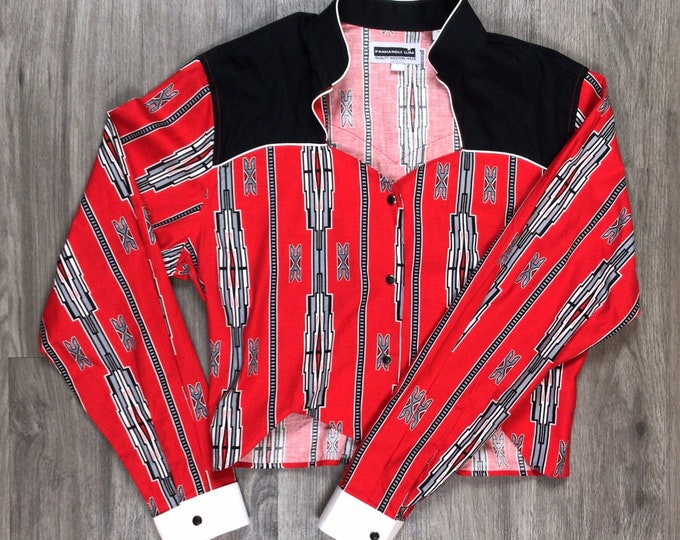80s Western Button Front Top
