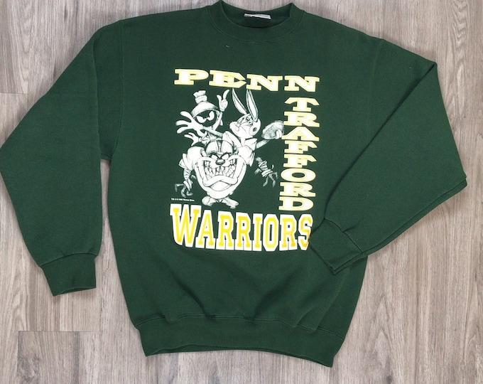 90s Warner Bros Penn Trafford Warriors Sweatshirt