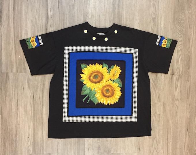 90s Sunflower Applique Tee