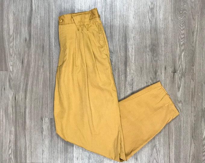 80s Khaki Pleated Trousers