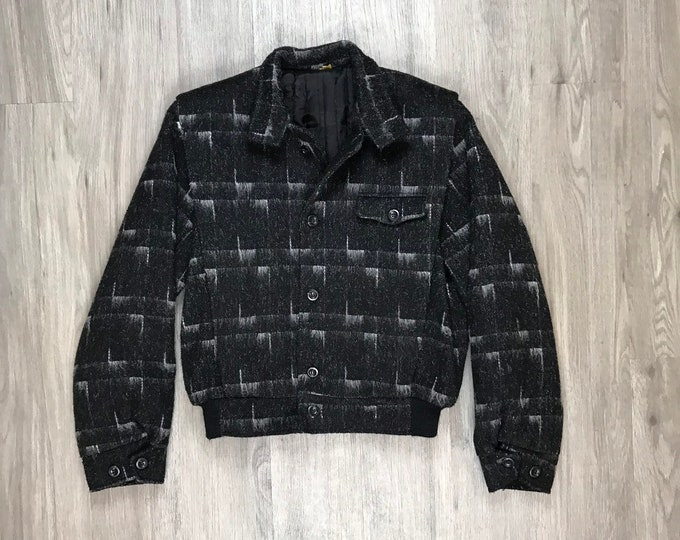 80s Wool Bomber Jacket
