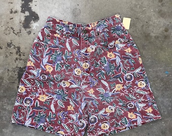 80s vintage busy floral print shorts small WB34279